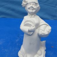 """doc holiday 1432 the tooth fairy gnome (GNOM 3)  7""""H  bisqueware"""