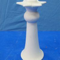 "scioto 3207 star lge candlestick (CA17) 8.75""T  bisqueware"