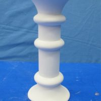 van pacific MVPO350 chunky turned candlestick   bisqueware