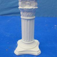 "scioto 1794 med victorian candlestick   5.5""H  bisqueware"