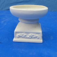 duncan 247A country candle block holder square base  bisqueware