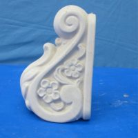 alberta  JMZ51 fancy bookend   bisqueware