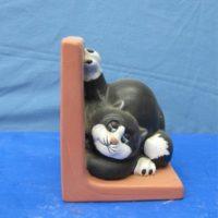 duncan 78D tom cat bookend   bisqueware