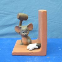 duncan 79C jerry mouse bookend  bisqueware