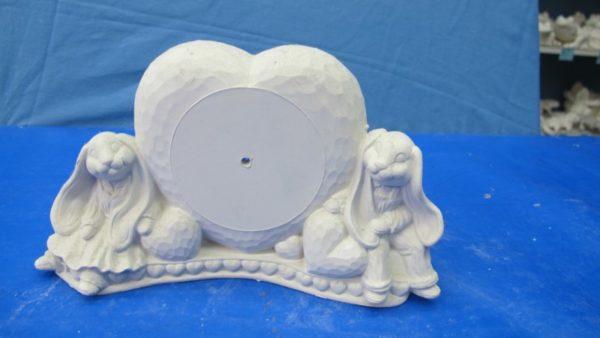 duncan 1158 bunny clock (CL4)  bisqueware