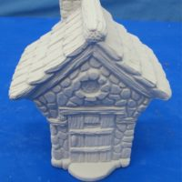 "ceramichrome 1878 easter village house dickens (X140) 4.75""H  bisqueware"