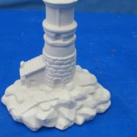 "Duncan 1028 Small lighthouse (HO 6)  5.5""H  bisqueware"