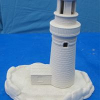 "Doc holiday 1778 lighthouse with base (HO 15) 11""H  bisqueware"