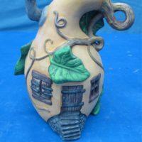 """ceramichrome 2233 gourd house (HO 19)  7.25""""H  bisqueware"""