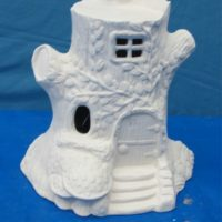 Alberta 1147 fairy tree house  (HO 17)  bisqueware