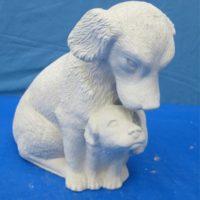 """scioto 2631 lge nurturing dog  10.5""""H  bisqueware"""