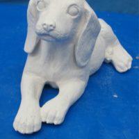 duncan 432D,432E beagle puppy (DG 134)  bisqueware