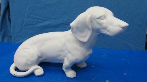 whitehorse 1448: dachshund lge (DG 169)  bisqueware