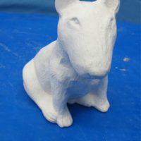 yozie  1448 bullterrier sml  dog (DG 132)  bisqueware