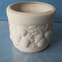 PLANTER 184 fruit planter  bisqueware
