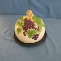 "duncan 2105 grape cheese dome set  7""H,8""W  bisqueware"