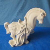 "Arnels 393 tang matador horse (HR19)  9.75""H  bisqueware"