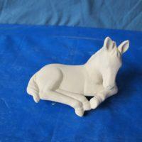 """Scioto 2477 Small sill sitter horse (HR 1)  4""""L  bisqueware"""